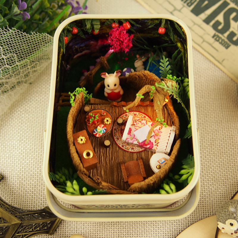 Model Building Toys & Hobbies Diy 3d Wooden Building Dollhouse Miniature Cute Elf Box Theater With Funitures Toys For Mm/gg Festival Handmade Creative Gifts Beautiful In Colour