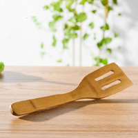 Bamboo Wooden Spatula Scraper Kitchen Cooking Tool Utensil Kitchen Turners Tool For Food Frying Pan Safety