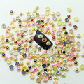 2014 nuevos clavos 200 unids 4.5mm Color Mezclado Hecho A Mano De Cerámica Y la perla de la resina 3D Del Arte Del Clavo para los CLAVOS DIY suministros