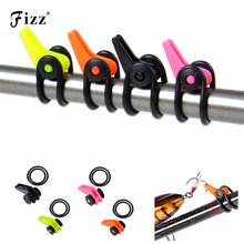 цена на 1 Piece Plastic Fishing Rod Pole Hook Keeper for Lures Bait  Spoon Treble Fish Hook Safety Holder Fishing Tackle Accessories