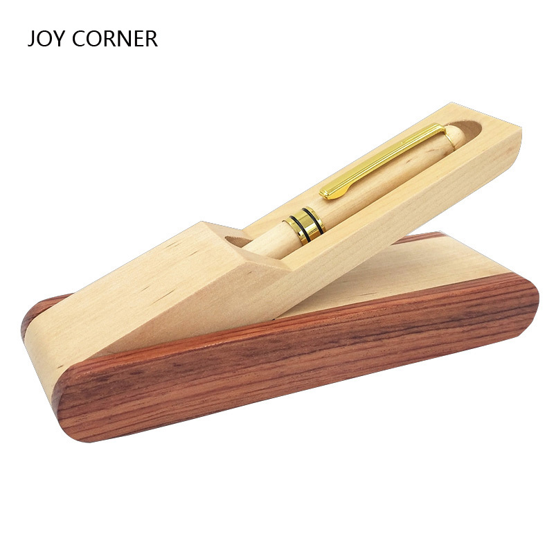 Wood Finance Fountain Pen Calligraphy Ink Pens Gift Box Set Teacher Gift 2018 JOY CORNER nature wood fountain pen with wood gift box calligraphy pens for writing luxury business high quality teacher gift supplies p171