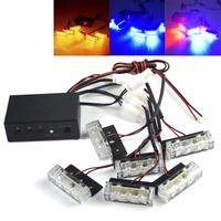 3 6 LED 18LED DC 12V Flash In The Net Car Flash Flash Warning Lights Flashing