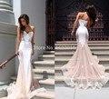 Robe De Soi Backless 2017 Sirena Cariño Barrer de Tren Lavender Tulle Apliques Largos Vestidos de Noche Vestido de Noche Vestidos de Baile