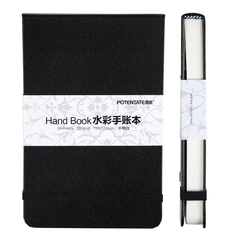 POTENTATE A5/A6 Acquerello Notebook 300 g/m 24 Lenzuola di Mano di Viaggi Notebook Pittura per Colori a Acqua Agenda Dello Studente Rifornimenti di Arte