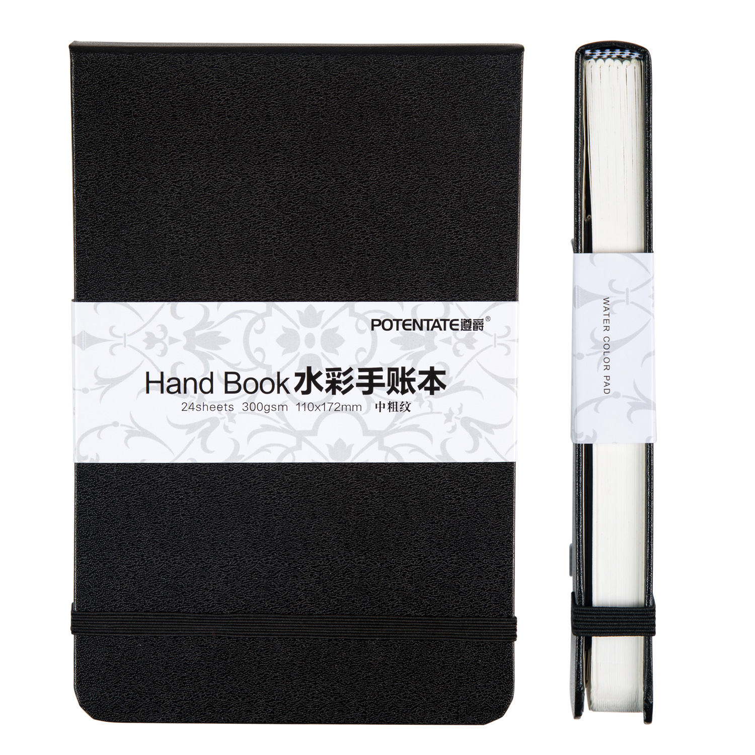 POTENTATE A5/A6 Watercolor Notebook 300g/m 24Sheets Travel Hand Painting Notebook For Water Color Diary Student Art Supplies