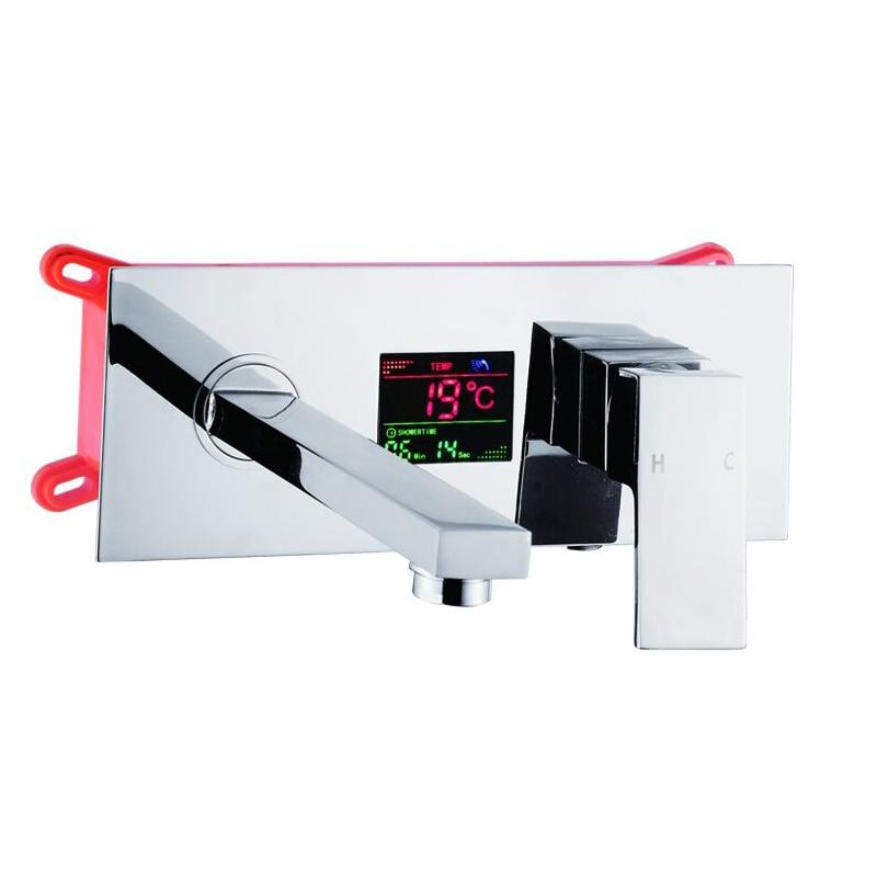 becola LED Digital Display bathroom faucets brass chrome concealed tap new design hot and cold basin faucet LT-320A автоинструменты new design autocom cdp 2014 2 3in1 led ds150