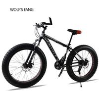 bicycle Mountain Bike 21/24speed 26X 4.0 fat bike road bike Front and Rear Mechanical Disc Brake Spring Fork Alloy wheels bike