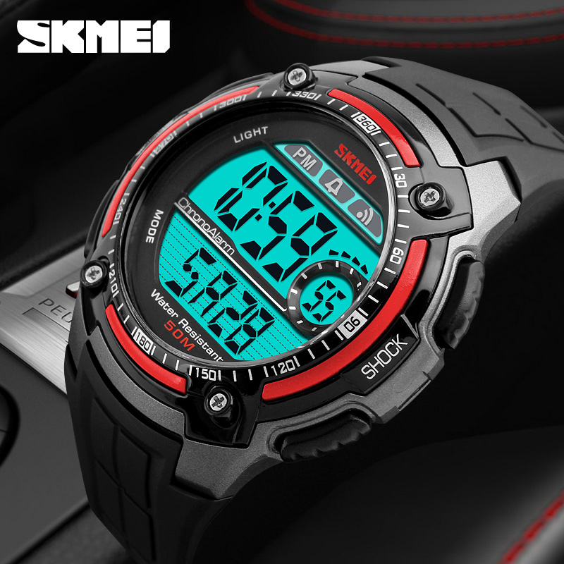 Sports Military Watches Fashion Casual Waterproof Multifunction LED Digit Watch Men Clock Digital-Watch SKMEI Mens Wristwatches skmei outdoor sports watches men quartz digital waterproof military watch fashion casual multifunction student men wristwatches