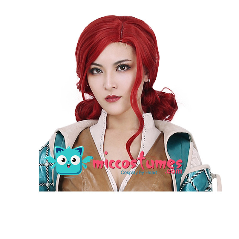 Synthetic Wig Wild Hunt Triss Merigold Cosplay Wig-in Game Costumes from Novelty & Special Use    2