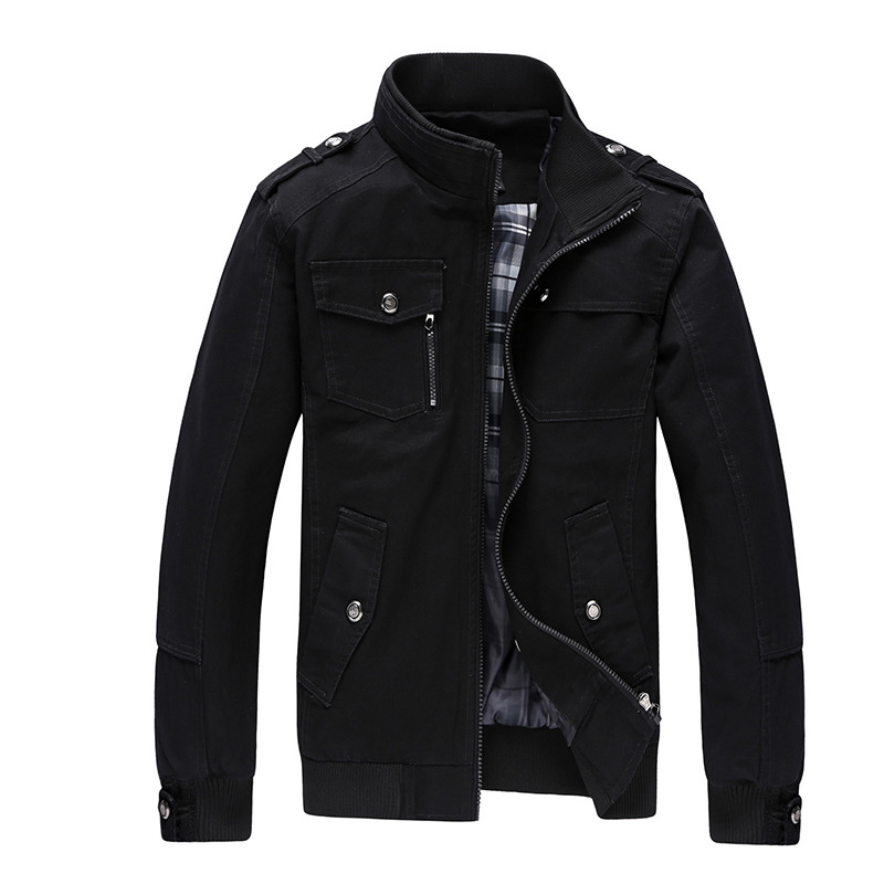 Mens Casual Jacket Spring Army Military Khaki Jacket  2