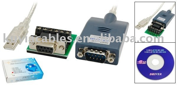 Free Shipping+tracking number +USB TO RS485 /USB 2.0 to RS485 Converter Adapter Cable With driver ,with retail package