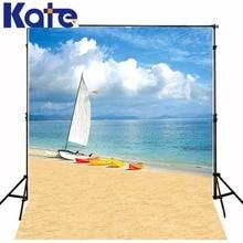 Kate 150×220 cm fundo praia fan yang barco mar fotografia fundo cenários de fotografia verão praia 3247 lk