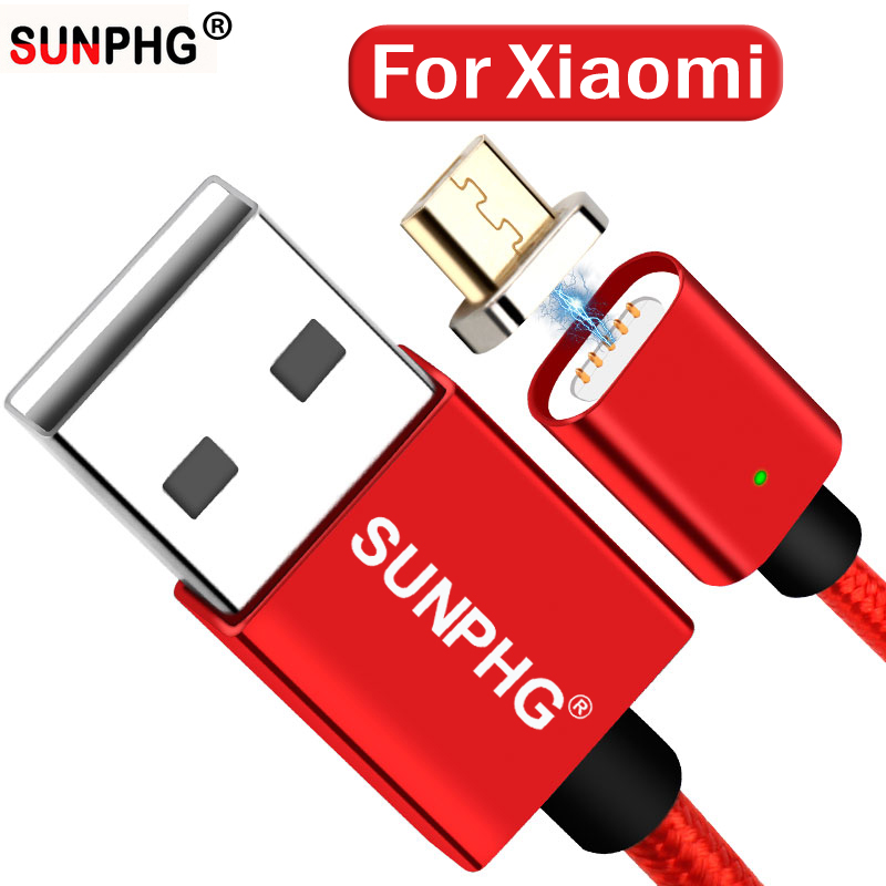SUNPHG magnetic charging for xiaomi cable xiomi xiami charger power for samsung usb cable 2.4A fast adapter 0.5m