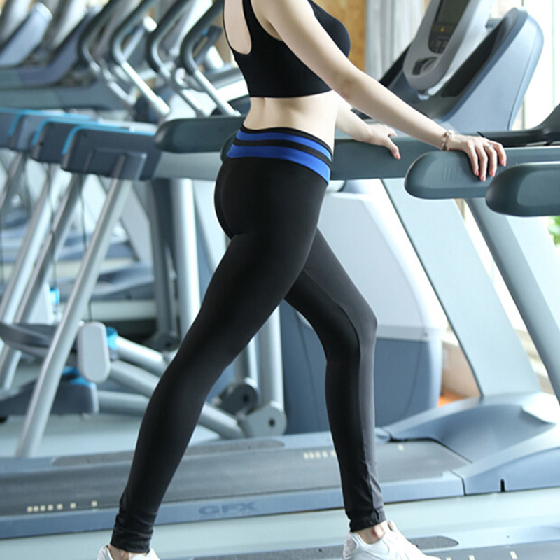 Hot V Shape Waist Fitness Pants Women Runnning Tights 2018 Spring Summer Sportswear Female Athletic Tights Outwear Workout Pants