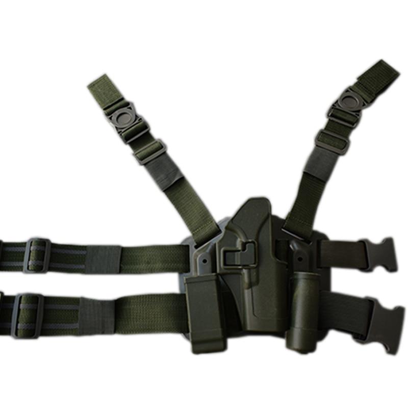 Military Gun Carry Glock 17 Leg Holster Tactical Gun Leg Holster Hunting Airsoft Pistol Holster For Glock 17 19 22 23 31 32 military tactical drop leg thigh holster lv3 light bearing holster for sig sauer p226 p228 p229