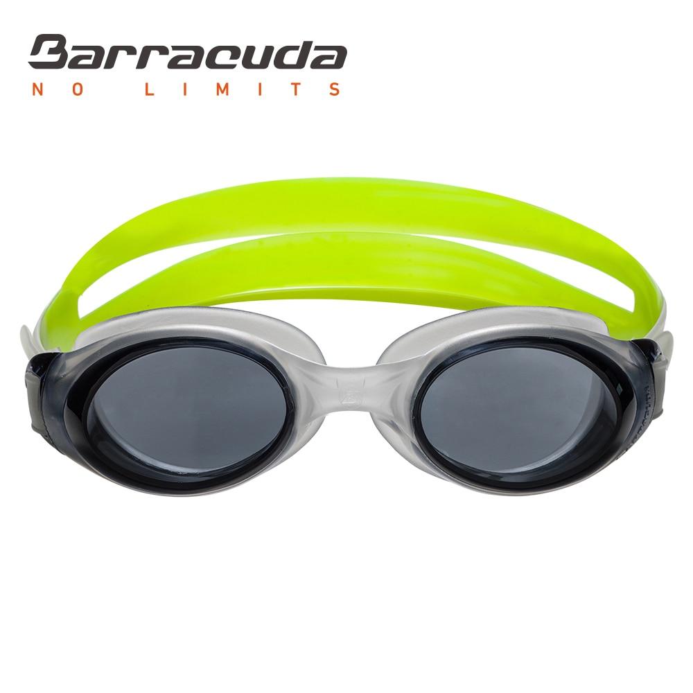 Barracuda Плавательные очки с наклонными линзами Цельная рамка Anti-Fog Защита от ультрафиолета Легкая настройка для Взрослых Мужчин Женщин # 13355
