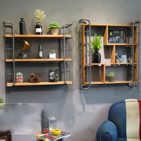 American Industrial Style Retro Bar Restaurant Wall Decoration Shelf Wall Hanging Coffee Shop Wall Personality Pendant Vintage