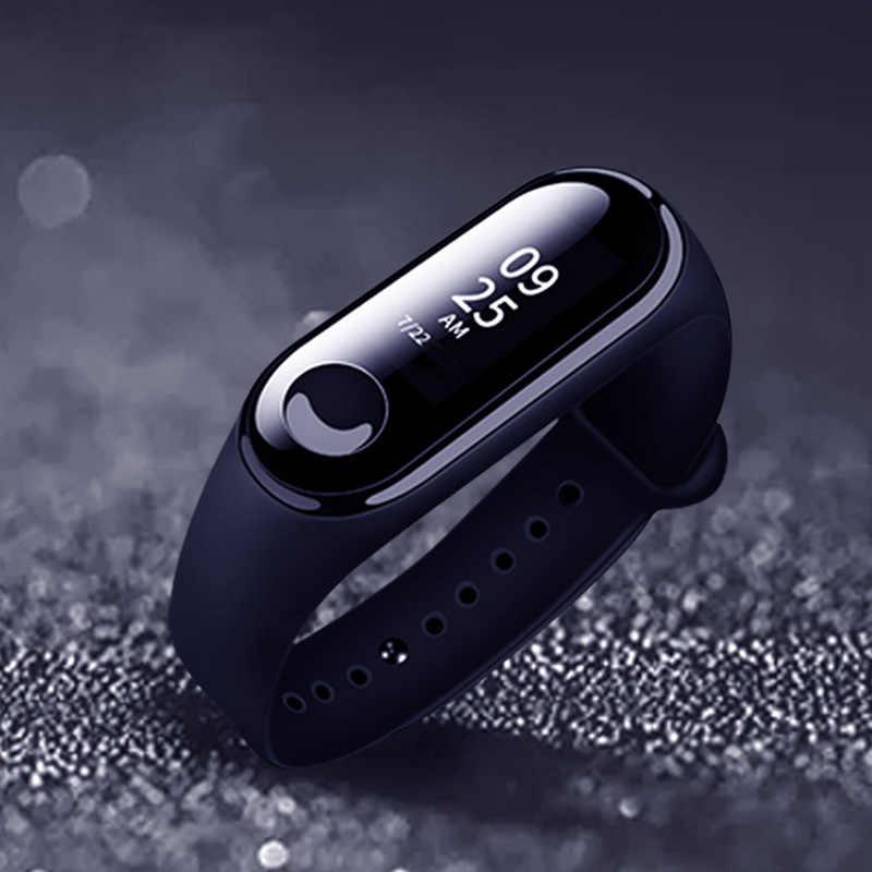 Ochraniacz ekranu dla Mi Band 3 Film dla Xiao Mi kompania inteligentna bransoletka bardzo cienka dla połowy Band3 Film w wykonaniu przeciwwybuchowym HD Anti-scratch