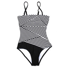 2017 newest swimwear one piece striped swimsuit bodysuits women bathing suits swim wear one-piece sexy swimming suits hollow out