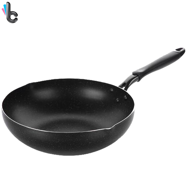 30cm Frying Pan Wok Non Stick Cooking Pot Diversion Mouth Kitchen Tools  Cookware