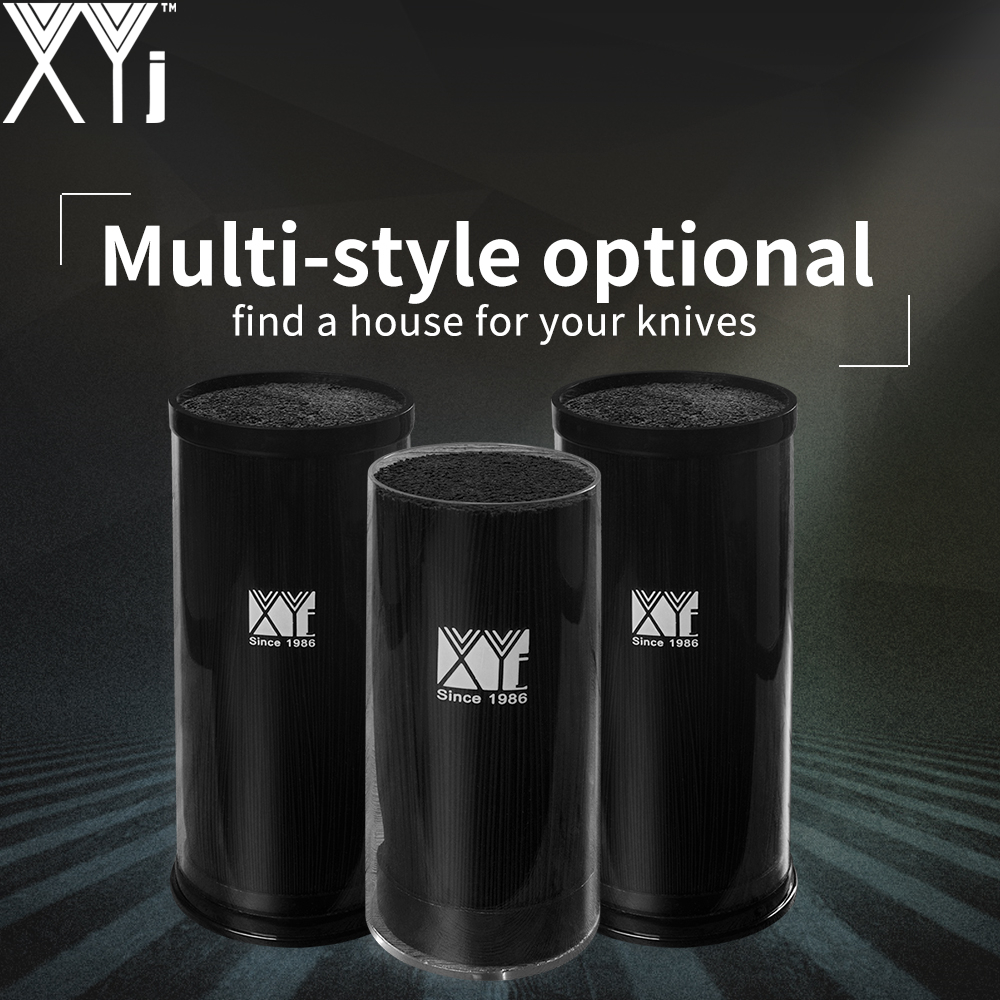 Black Multifunctional Knife Holder XYj Brand Arylic+PP Large Capacity Kitchen Knife Stand Block For Best Metal & Ceramic Knife
