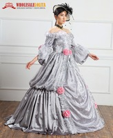 1860s Red Civil War Southern Belle Ball Gown Victorian/ Ladies' Victorian Dresses/Victorian Dress Up/Victorian Fancy Dresses