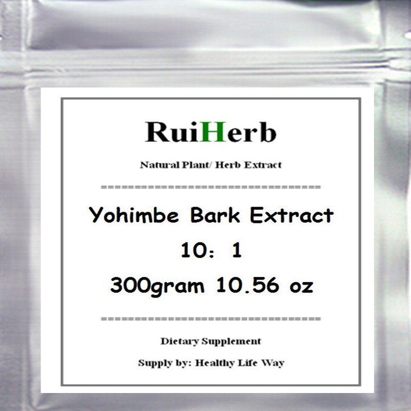 300gram Yohimbe Bark Extract Powder free shipping 100% natural pomegranate bark extract powder wholesales