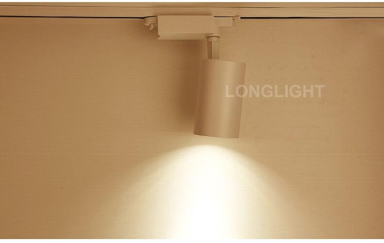 Точечная светодиодная дорожка с регулируемой яркостью 5 Вт 7 Вт 10 Вт рельсовая светодиодная дорожка Освещение 3000 К 4000 к 6000 К униформа для магазина
