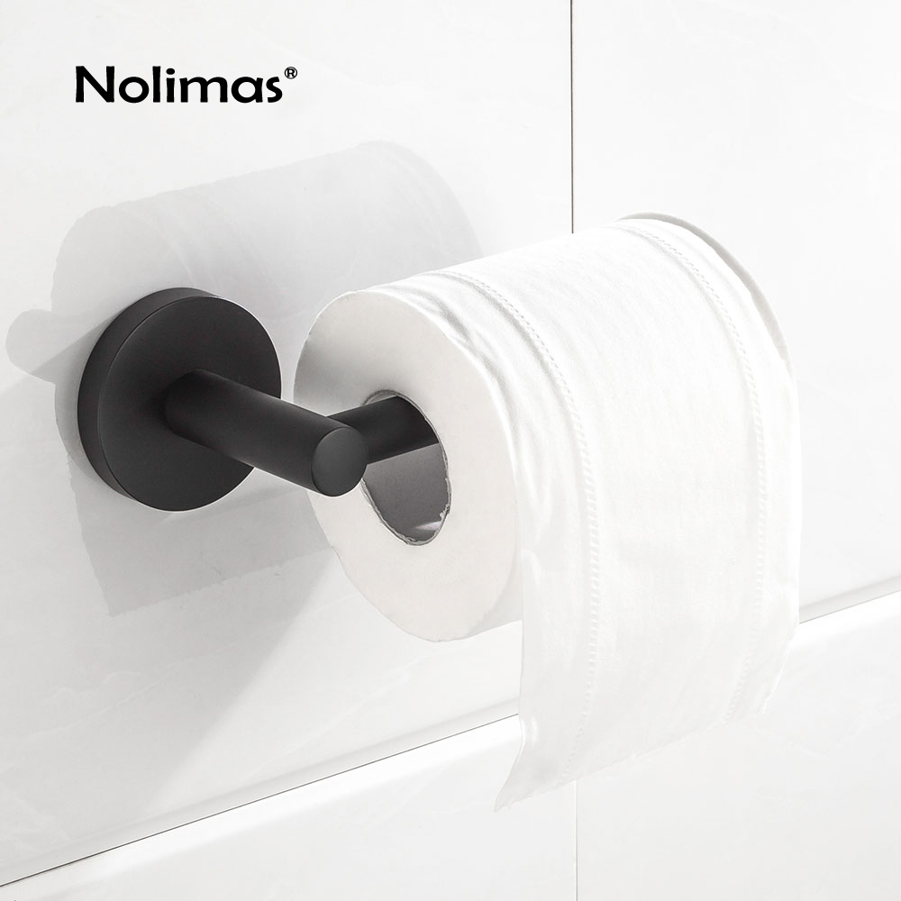 White Toilet Roll Holder Us 13 49 37 Off Toilet Paper Holder Sus 304 Stainless Steel Matte Black Bathroom Toilet Roll Holder Towel Square Bathroom Accessories In Paper
