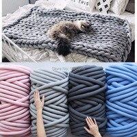 ZENGIA зима 250 г супер толстая пряжа для вязания хлопок/поли пряжа 2 см толстые пряжа для ручного вязания одеяло вязанное гнездо