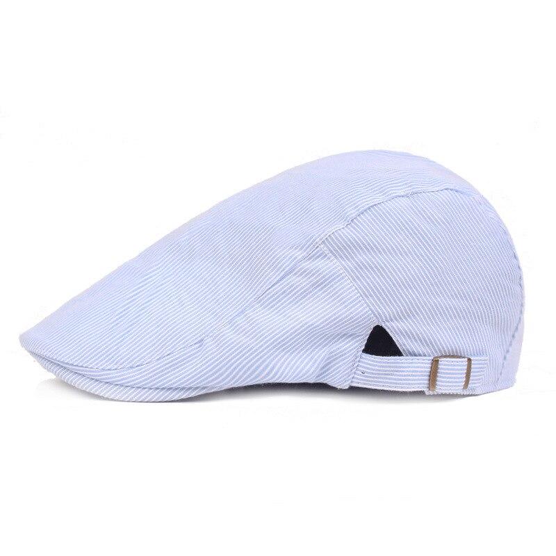 RoxCober New Men/'s Leather Ivy Flat Cap Gatsby Hat Plaid Beret Newsboy Boina Hat