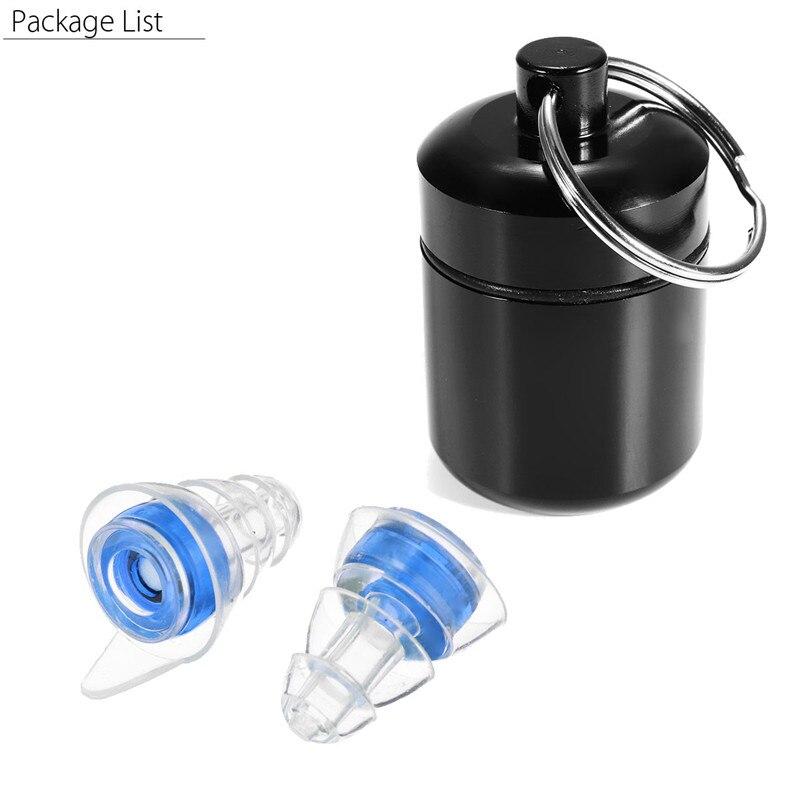 1 paire Silicone Ear plug Sound Isolation Oreille Protection Réutilisable Bruit Musique Réduire Annulation Bouchons D'oreille Pour Dormir Batteur