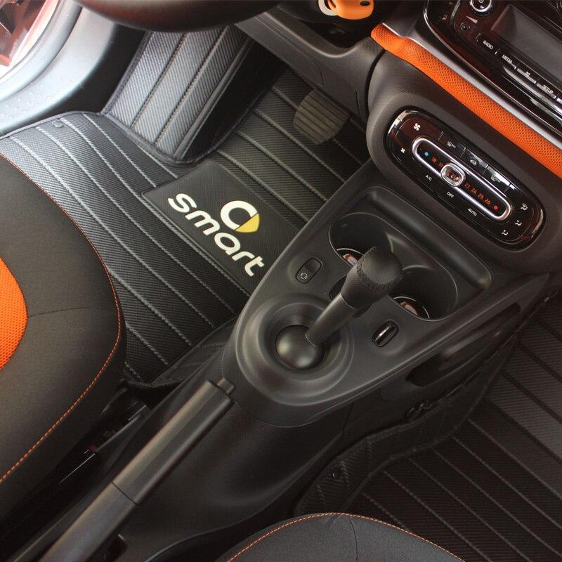 Voiture pédale tapis de sol pour Mercedes smart fortwo 453 451 voiture tapis tapis anti-sale pad voiture accessoires voiture forme pour la cabine gauche