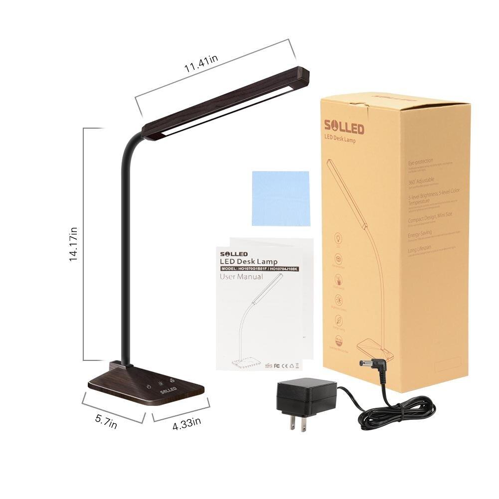 Wood Grain Goose-neck Table Lamp - Lamps & Lighting