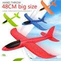 48 см большой ручной запуск пенистая Палетка EPP модель самолета планер модель самолета для улицы DIY обучающая игрушка для детей