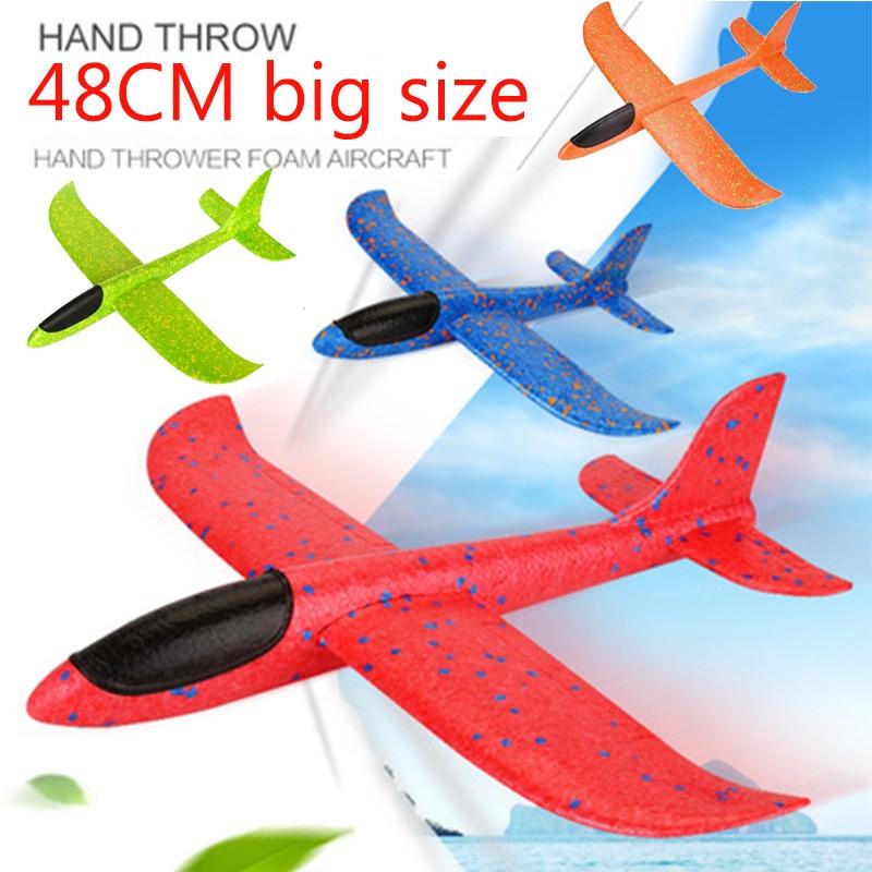 48cm grande mão lançamento jogando espuma palne epp avião modelo planador avião avião modelo de aeronave ao ar livre diy brinquedo educacional para crianças