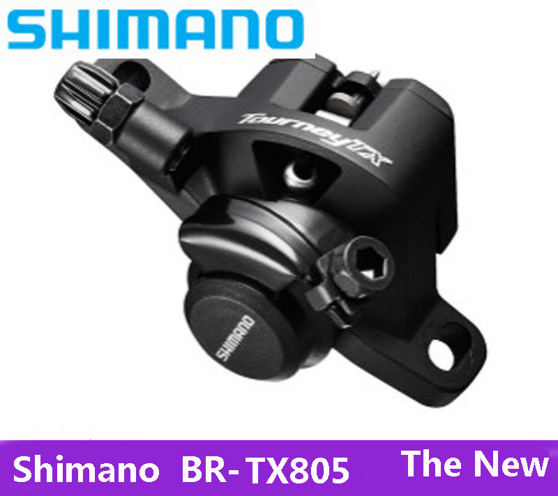 SHIMANO BR-TX805 Bicycle Parts MTB Mountain Bike Machinery Disc Brake Calipers ALIVIO XT Bike Parts 1 Pair Free Shipping shimano br bl m315 m365 mtb bike hydraulic disc brake set clamp mountain for deore xt brake bicycle disc brake sheet screws