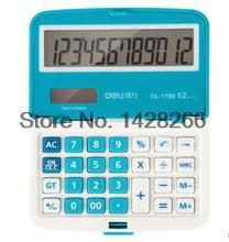 Deli 1109A Professional Office Electronics Mini Solar Calculator Candy Colors School Business 12 Digit Calculator Free Shipping