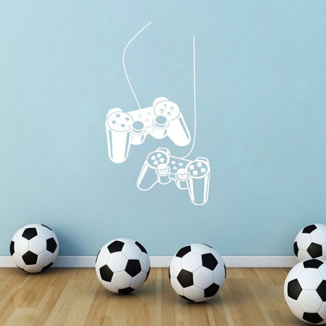 Gaming Gamer Vinyl Wall Decals Eat Sleep Play Game Art Decor Sticker for Boys Room