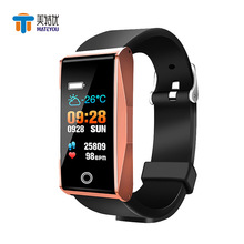 MATEYOU smart bracelet waterproof metal case bluetooth sports casual positioning mens watch support IOS Android phone