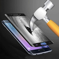 For Samsung S 6 Edge S6 edge plus S7 edge Full Cover Glass Tempered Film Screen Protector for Galaxy S6 Edge G9250 Color blue