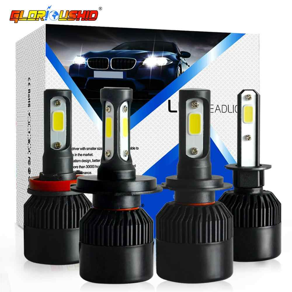 2Pcs H1 H7 LED H11 H4 H3 HB4 HB3 H8 H27 9005 9006 Car Headlight Bulbs 72W 8000LM 6000K Led Fog Light car accessories DC12V 24V