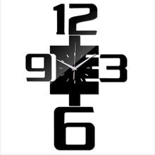 Горячая Распродажа diy настенные часы современный дизайн кварцевые акриловые часы настенные 3d часы зеркальные наклейки Декор для гостиной