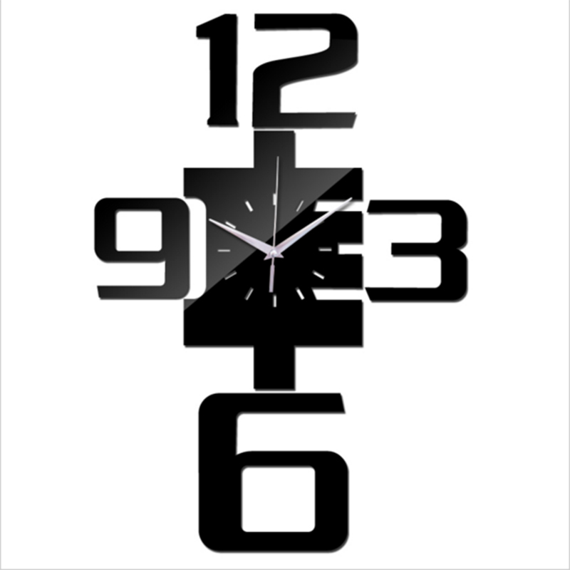 2018 Hot Sale Diy Wall Clocks Modern Design Quartz Acrylic Clock Wall 3d Watches Mirror Stickers Living Room Decor Free Shing