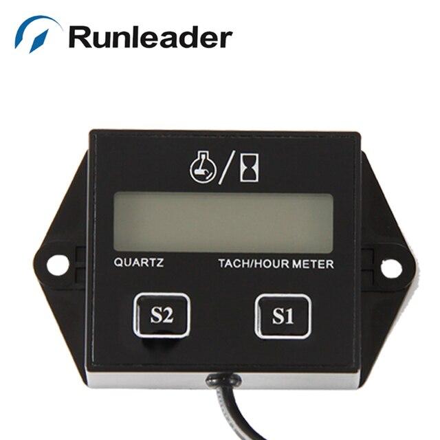 RL-HM011N Resettable Gasoline Engine Inductive Tach Hour Meter Tachometer
