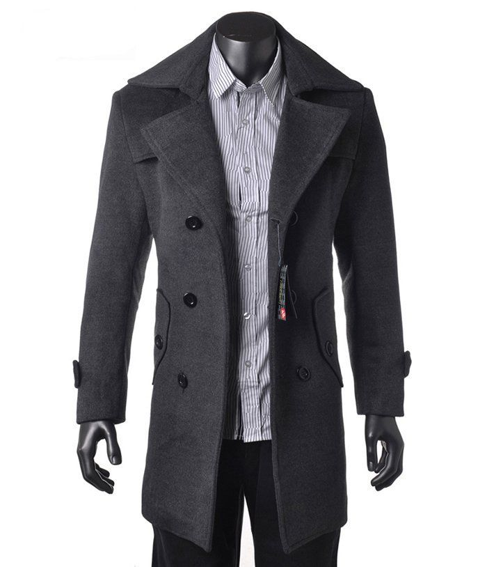 Compare Prices on Dark Grey Coat for Men- Online Shopping/Buy Low ...