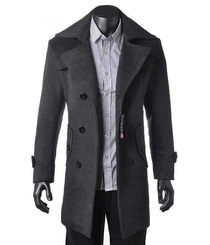 Popular Dark Grey Trench Coat Men-Buy Cheap Dark Grey Trench Coat ...