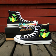 Pokemon Converse All Star Men Women Shoes Victreebel Flower Design Hand Painted Canvas Sneakers