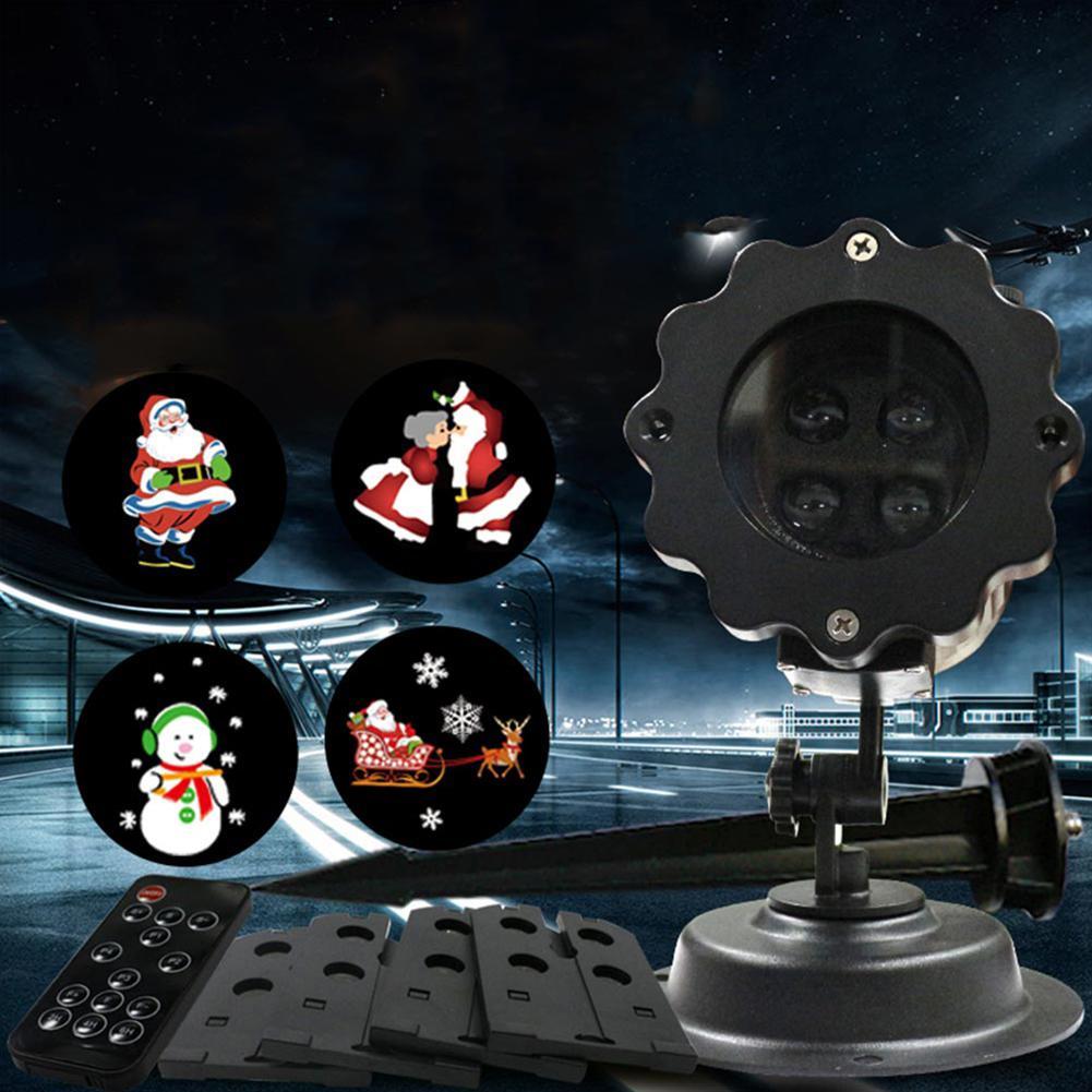LumiParty Waterproof Christmas Laser Snowman Projector Outdoor LED Waterproof Disco Lights Home Garden Star Light Indoor Decor