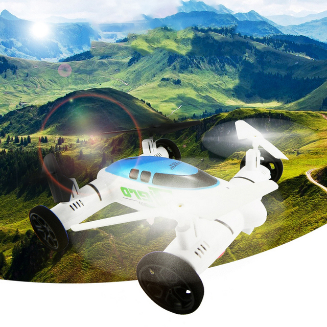 Airphibian Flying Car-Dron Rc helicóptero Quadcopter 2.4 G 8Ch 6 ejes Drone con luces Led Rc Hobby Toy Dron aviones 3D voltea